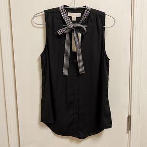 Michael Kors ✨ NWT Black tie-front tank top